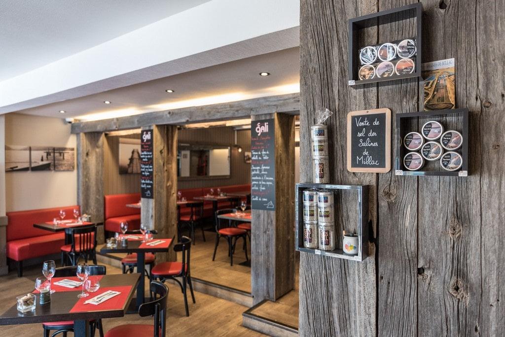 La salle du Comptoir Gali, restaurant à Pornic